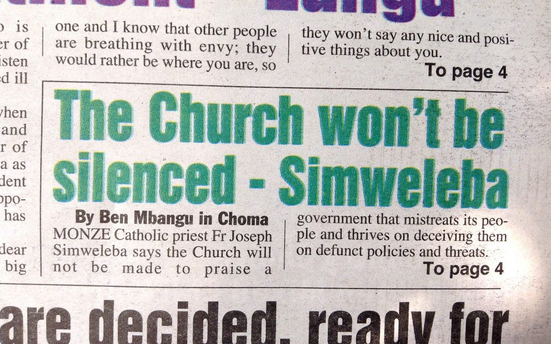Zambian Priest Challenges Government