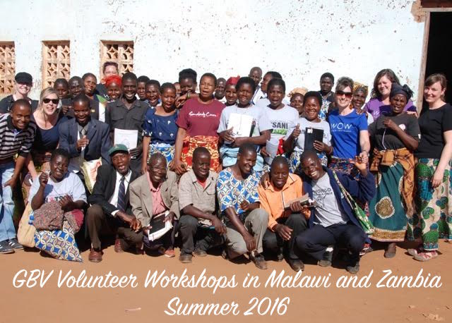 Stories from WOW's GBV Volunteer Workshops in Malawi and Zambia